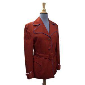Avidly 70s Sash Jacket Burnt Orange Custom Made